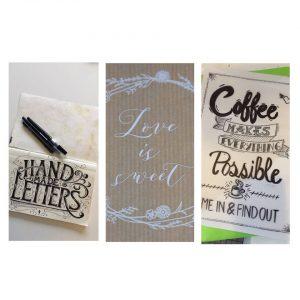HANDLETTERING 2 AufbauKurs mit Sibylle Born von PaperARTist.ch