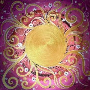 Bild BIG SUN with Love, Peace and Smile